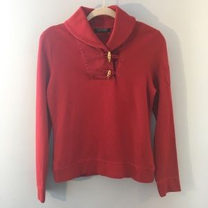 Vintage Ralph Lauren red top w/ toggle closings